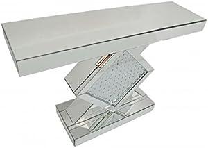 Picture Perfect Home Consola con Espejo Veneciano contemporáneo Flotante de Diamantes de Cristal salón Mesa