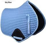 Gallop Prestige Coussin de Selle matelassé Contact Close Bleu Ciel Taille complète