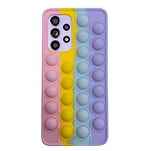NC YXKJ - Cover Compatibile con Samsung Galaxy A52/A52 5G/A52s 5G, [Decompressione] Custodia Morbida in Silicone 3D Cover Antistress con Bolle Sensoriali - Colore