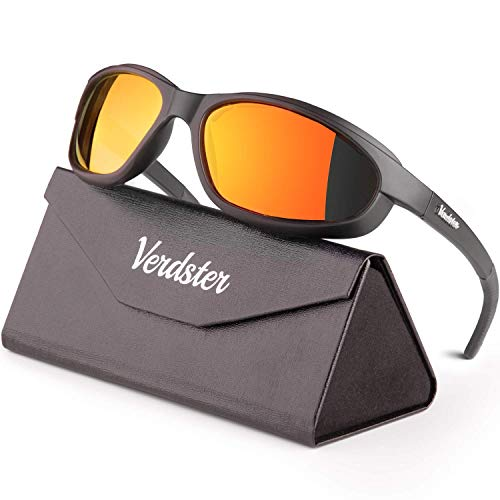 Verdster Airdam 2020 Polarized Sports Sunglasses for Men & Women - Foam Padded - UV Protection - Great for Motorcycle, Cycling, Fishing, Golf