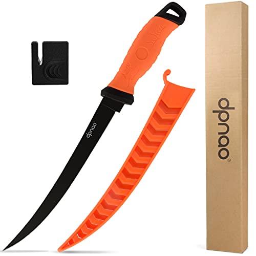 dpnao Fishing Fillet Knife, Sharp Flexible Stainless-Steel Blade