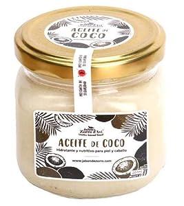 Jabón Zorro D'Avi | Aceite de Coco Puro Natural y Ecológico | 207 ml | Aceite Corporal y Capilar | Hidratante y Nutritivo | Cabello Sano y Fuerte | Piel Suave y Tersa | Fabricado en España