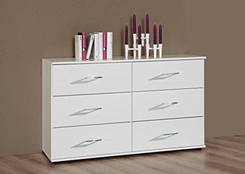 Wimex Kommode/ Schubladenkommode Anna, 6 Schubladen, (B/H/T) 83 x 41 x 130 cm, Weiß