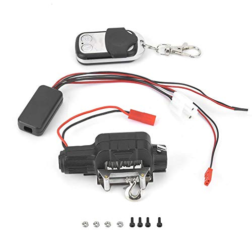 T best RC Winch Controller, 1:10 Scale Remoted Control Crawler Winch Controller RC Model Car Spare Parts Kit for 1:10 TRX4 KM2 RC Crawler Accessory
