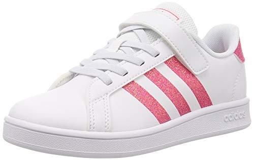 adidas Grand Court C, Scarpe da Tennis, Ftwr White Real Rosa S18 Ftwr White, 30 EU