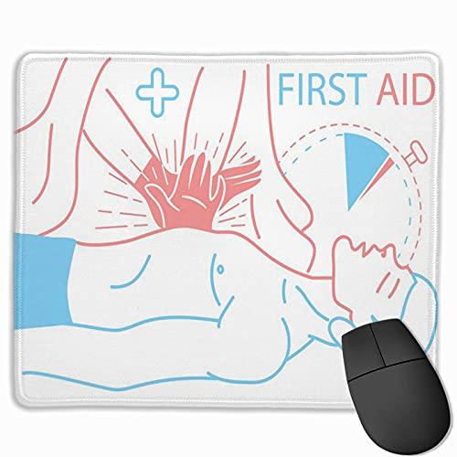 Gaming-Mauspad, Premium-strukturierte Mausmattenpads, niedliches Mousepad für Spieler, HLW im Büro und zu Hause für die erste medizinische Hilfe für Patienten