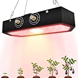 1000W LED Plant Grow Light - Plant Grow Light Full Spectrum Growing Lights with Adjustable Dual Switch Veg Bloom for Indoor Plants Greenhouse Vegetable, Flower, Seeding, Breeding and Veg