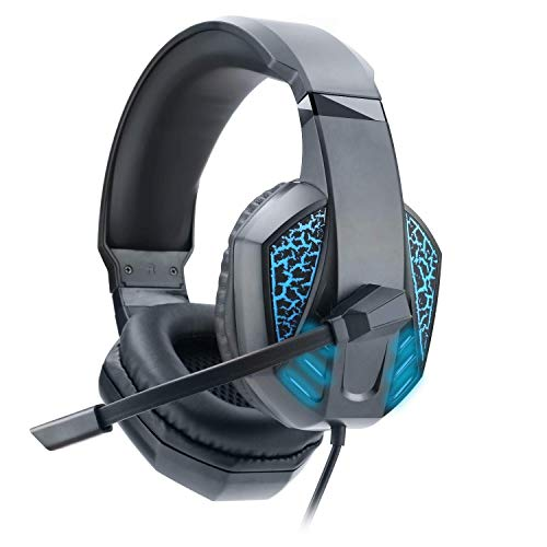 Gaming Headset For PS4 Headset, Headset With Noise Canceling & LED Light,Super Soft Memory Protein Earmuffs For For PS4, MAC, PC,PS2?Xbox One?Adapter Not Included …
