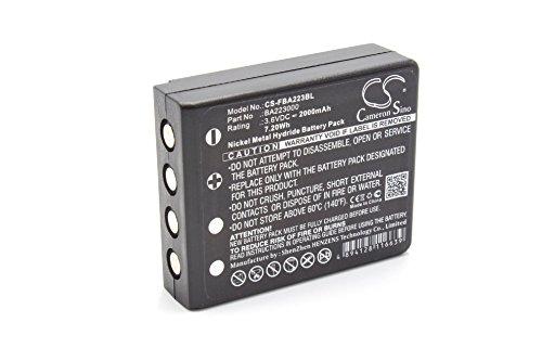 vhbw NiMH Batterie 2000mAh (3.6V) pour télécommande Remote Control comme HBC BA223030, FUB6