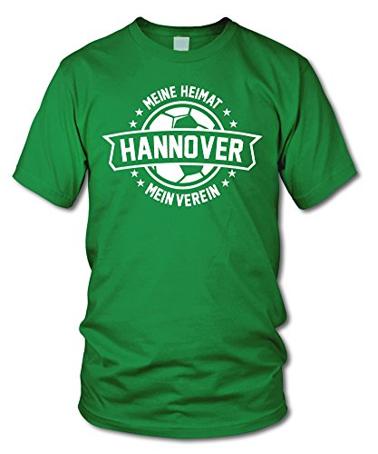shirtloge - Hannover - Meine Heimat, Mein Verein - Fan T-Shirt - Grün - Größe L