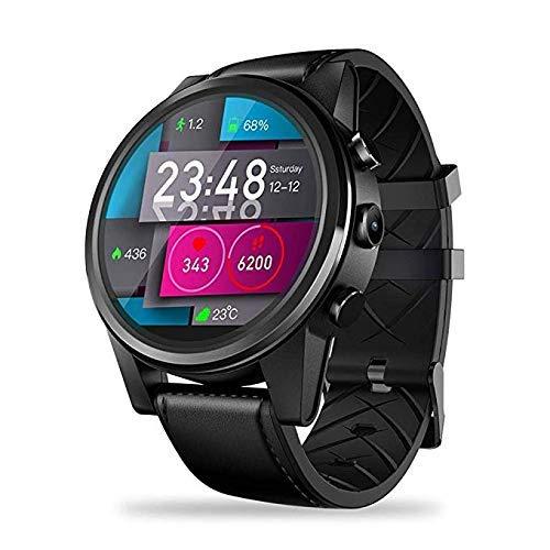 FTFTFTF Smart Watch, Orologio GPS Multifunzione Display LCD da 1,6 Pollici Rom GPS GLONASS Quad-Core da 16 GB con Orologio da 5 Milioni di Pixel,B