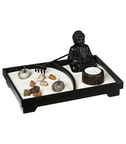Jardín Zen + estatua 24X16