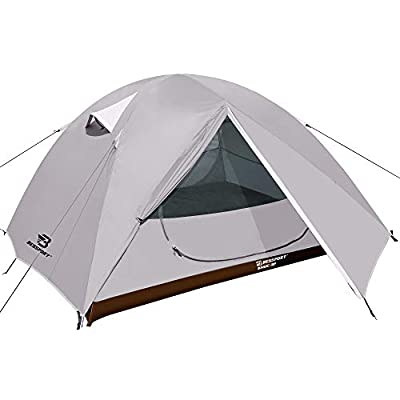 Bessport Camping Tent 3 Person Tent Waterproof Two Doors Tent Easy Setup Lightweight for Outdoor, Hiking Mountaineering Travel