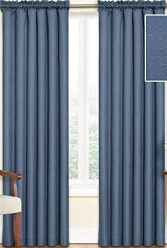 "Eclipse Samara Blackout Energy-Efficient 42""x 84"" Curtain Panel, 35587102, Set of 2 - Stone Blue"