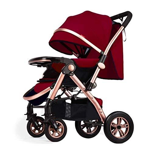 Nuevo triciclo triciclo para niños cochecito de bebé, cochecito de paisaje alto, reclinable, paraguas de bebé plegable ligero, cochecito de cuatro ruedas, cochecito de bebé triciclo cochecito para niñ