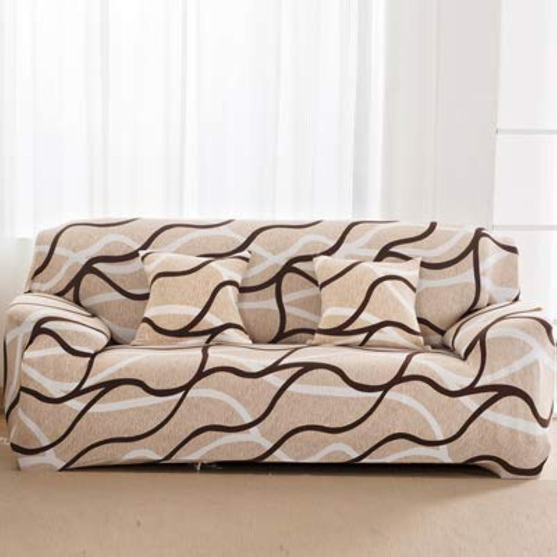 Beautiful pink flowerTight Wrap All-Inclusive Sofa Cover Elastic Sofa Towel Furniture Slipcover Slipcover 1PC   3, Singer seat