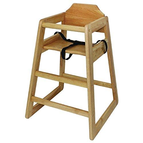 Boléro dl900 Chaise haute en bois, finition naturelle