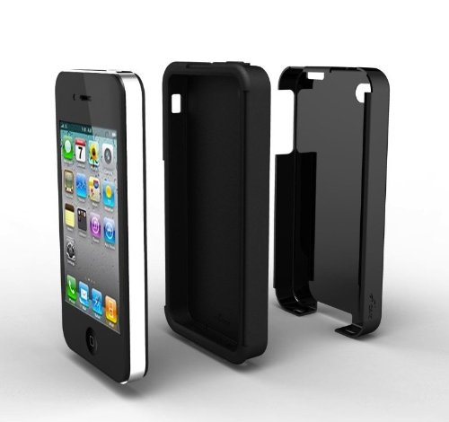 Acase(TM) iPhone 4 and 4S Superleggera PRO Dual Layer Protection (Black/Black) case (Fits AT&T, Sprint and Verizon iPhone 4 and 4S)