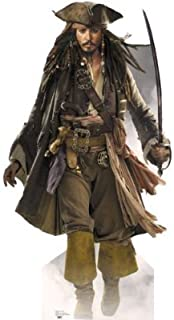 Pirates of the Caribbean Captain Jack Sparrow - Figura de cartón a tamaño real, 183 cm