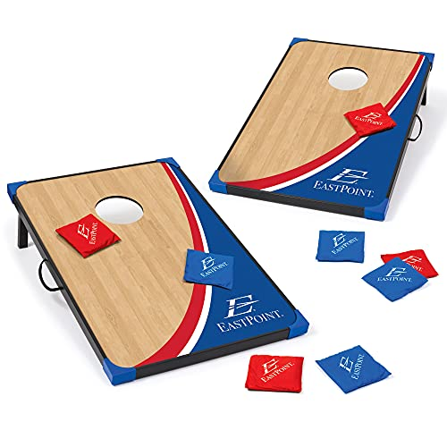 EastPoint Sports MDF Cornhole Game Set 2x3 with Built-in Storage, Convenient Carry Handles – Perfect for Backyard, Beach, Park, Tailgates, Outdoors and Indoors