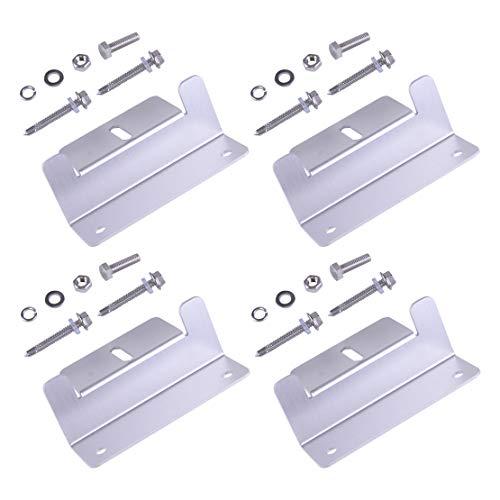 eastar Aluminium 4 Set Zonnepaneel Z-beugel Montage w/Bouten voor RV Boot