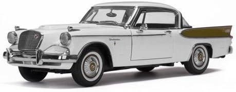 1957 Studebaker 舗 Golden Hawk Arctic White 18 Car 卸売り Diecast 1 Model
