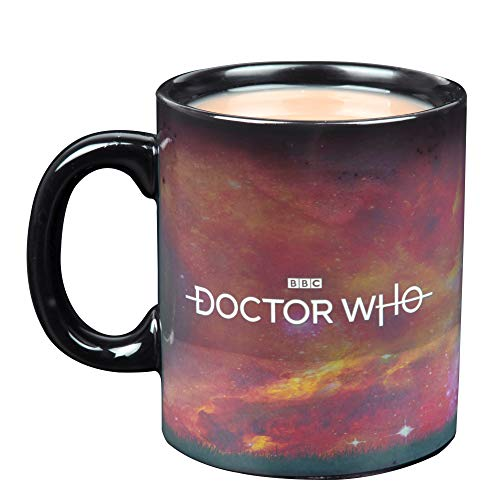 Doctor Who Heat Reveal Keramik-Kaffeetasse – Tardis und Baum-Design aktiviert mit Wärme – 325 ml