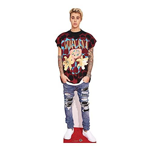 Star Cutouts Ltd Justin Bieber Ritaglio a grandezza Naturale con Mini Versione, Cartone, Multicolore, 176 x 53 x 176 cm
