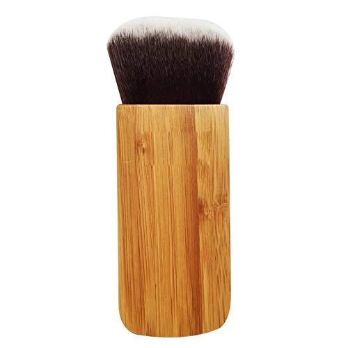 HBBOOI Make Up Brush 3-en-1 cosmétiques pinceau de maquillage for le mélange de crème liquide ou Flawless poudre cosmétiques Buffing Stippling Pinceau