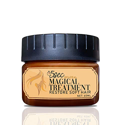 Magical Hair Treatment Mask, 5 Seconds to Restore Soft Hair, Hair Roots Treatment, Deep Conditioner for Dry & Damaged Hair, Reazeal