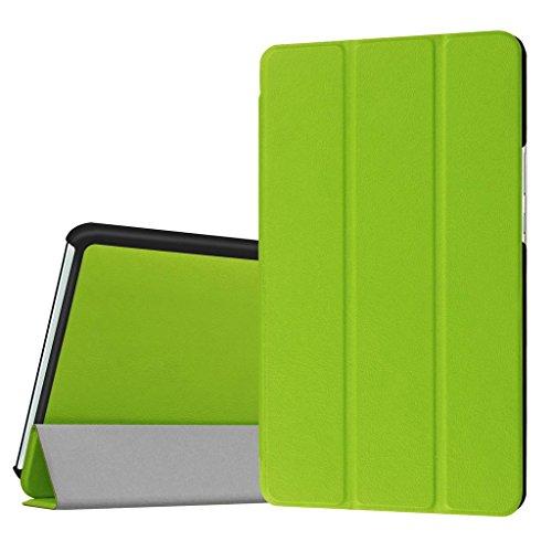 SATURCASE Huawei MediaPad M3 8.4 Hülle, PU Leder Flip Umklappbar Foliant Standfunktion Schützend Tablet Tasche Hülle Schutzhülle Tablethülle für Huawei MediaPad M3 8.4 (Grün)