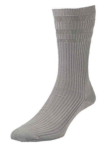 HDUK Mens Socks hj910HJ Hall/2der Original Bambus Reichhaltige nicht elastische Socken UK 6–11Eur 39–46(2Paar) Gr. L, Grau - Grau