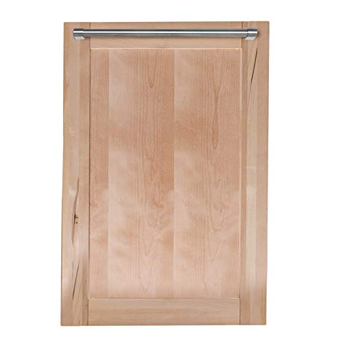 18 in. Top Control Dishwasher in Unfinished Wood with Stainless Steel Tub and Traditional Style Handle
