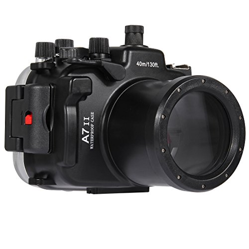 YAOkxin Adecuado para Sony A7 II/A7R II/A7S II 40m Submarino Profundidad Buceo Caso cámara Impermeable Vivienda Profesional fotografía submarina Cubierta Impermeable