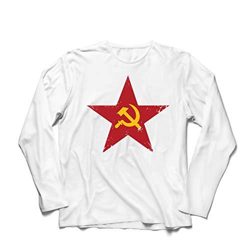 lepni.me Camiseta de Manga Larga para Hombre URSS СССР La Hoz y el Martillo, símbolo del proletariado socialista