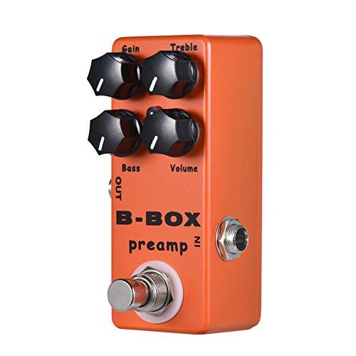 XuBa Mo-sky B-Box E-gitaar-voorversterker-overdrive-gitaar-effectpedaal met True bypass voor analoge signaalweg