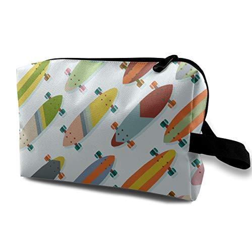 Bunter Skateboard-Reise-kosmetischer Fall-Kasten-tragbare Zug-Kästen für Kosmetik