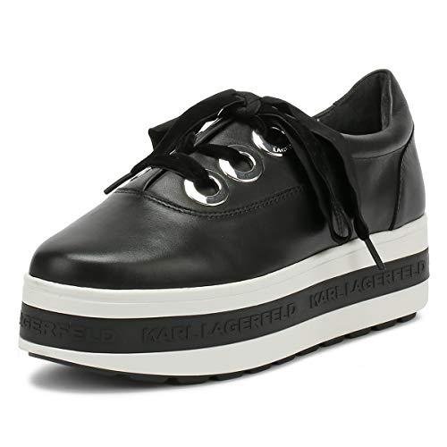 Karl Lagerfeld Kobo Kup 3-Eye Tie Schwarz Damen Platform Sneakers-UK 7