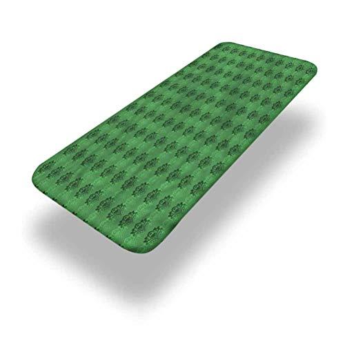 LCGGDB Mantel ajustable de poliéster esmeralda para mesa de picnic, estilo clásico, con bordes elásticos, 76 x 182 cm, para camping, comedor, al aire libre, parque, patio