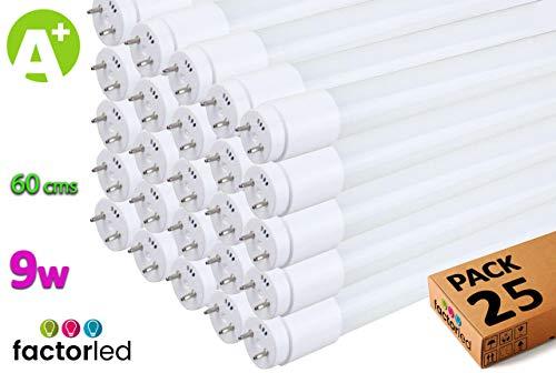 FactorLED LED-buis, 9 W, glas, 60 cm, rond, 300 cm, binnenverlichting, plafondlampen, 30.000 uur levensduur, 1200 lumen, 2 jaar garantie