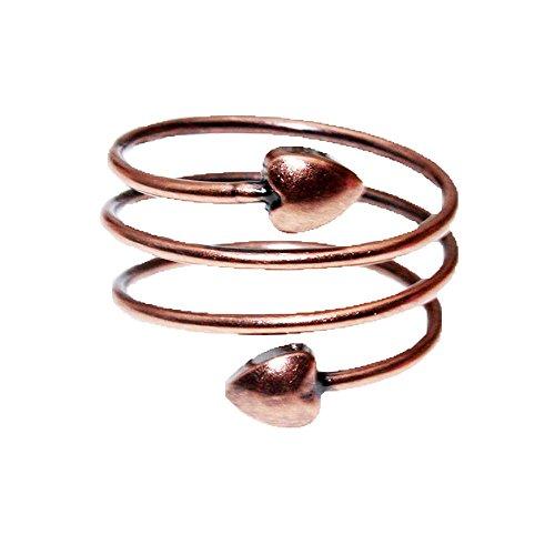 LONGRN-Magnetic Copper Ring Adjustable Size for Arthritis for Men and Women