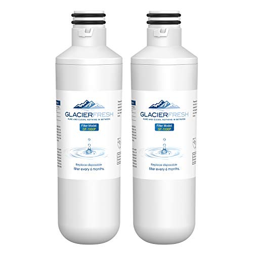 GLACIER FRESH Water Filter LT1000PC Replacement for Refrigerator, Compatible with LT1000PC/PCS, LT1000PC, LT-1000PC, MDJ64844601, ADQ747935 ADQ74793504 Water Filter (2 Pack)