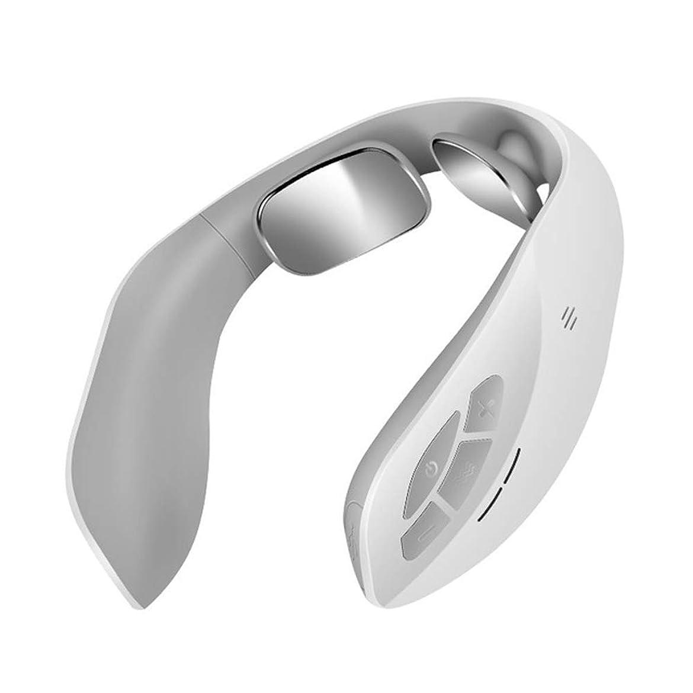 とげのあるオーバーフロー取得ポータブル頸部マッサージ器-多機能電動パルスネックマッサージ器、指圧ディープマッサージ機により、身体を解放し、リラックスさせます,銀