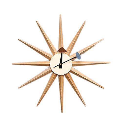 Modern Home Elektronische stille klok niet tikkende klok, zonhout analoge wandklok