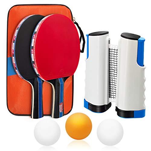 Baozun Juego de 2 raquetas y 3 pelotas, 1 funda