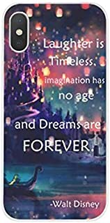 DECO FAIRY Compatible with iPhone XR,Laughter is Timeless Imagination Has No Age and Dreams are Forever Series Silicone Flexible Silicone Cover Case