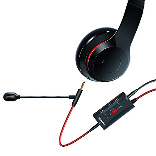 dreamGEAR - Boomchat Pro - Covert Music Headphones into Gaming Headphones, Includes Boom mic and Audio Controls