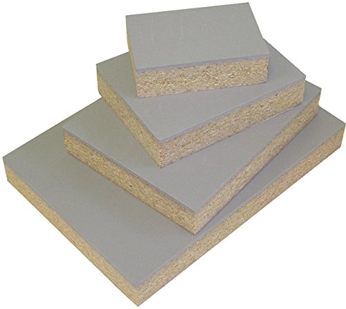 """Speedball Red Baron Gray Linoleum Block: Mounted to 3/4"""" Particle Board, 2"""" x 2"""""""