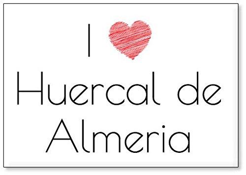 Mundus Souvenirs - Amo Huercal de Almeria, Imán para Nevera (diseño 2)