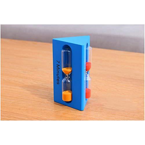 JINSUO NWXZU Sanduhr, Zeit Kombination Eieruhr, kreative Geschenk-Dekoration, Kunsthandwerk, Dekoration, Geschenk-schönes Geschenk (Color : Blue)